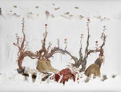 """6 pensieri di primavera"", 2011,acquerello su carta, 74x96cm"