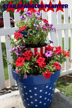 4th of July Crafts: planter