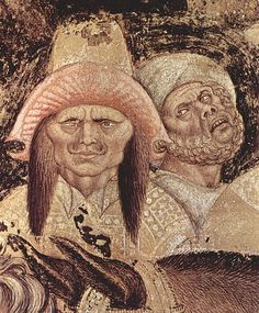 Detail from Pisanello's St. George and the Princess of Trebizond (right side), c. 1436-38. Fresco. Pellegrini Chapel, Chiesa di Sant'Anastasia, Verona, Italy.