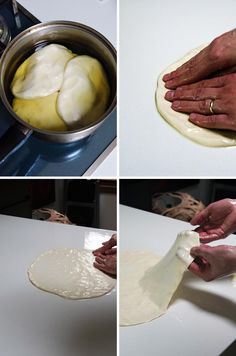 How to make burek & sirnica - HeNeedsFood Albanian Recipes, Bosnian Recipes, Bosnian Food, Albanian Food, Hungarian Recipes, Croation Recipes, Banana Dessert, Dessert Bread, Turkish Pizza