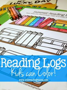 *FREE* Color-able Reading Logs