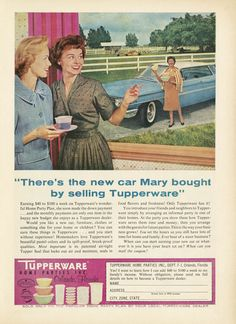 Advertisement Tupperware Home Parties,  magazine unknown, 1960  © Gemeentemuseum, The Hague