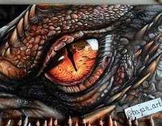 Reptiles are among the oldest deities in human history. Check out these best reptile eye tattoo ideas for inspiration! Fantasy Wesen, Fantasy Art, Fantasy Dragon, Mandala Skull, Reptiles, Dragon Eye Drawing, Reptile Eye, Realistic Dragon, Dragon Artwork