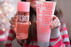 i ♡ these pink products! They smell so good!