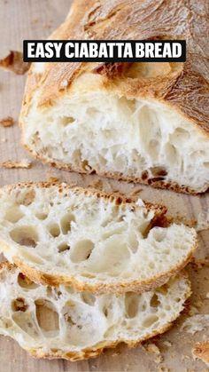 Artisan Bread Recipes, Sourdough Recipes, Bread Machine Recipes, Easy Bread Recipes, Baking Recipes, Vegan Recipes, Italian Bread Recipes, Cornbread Recipes, Jiffy Cornbread