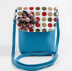 Your place to buy and sell all things handmade Crossbody Shoulder Bag, Crossbody Bags, Shoulder Bags, Purse For Teens, Big Bags, Polka Dot Print, Printed Cotton, Saddle Bags, Cross Body