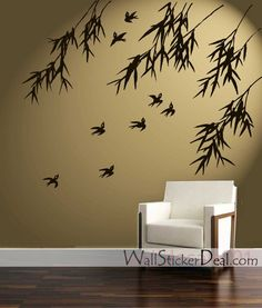 birds bamboo wall stickers home decorating photo wall stickers decorate rented property easy decorating