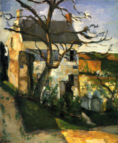 The House and the Tree Artist: Paul Cezanne Completion Date: c.1874 Style: Impressionism Period: Impressionist period Genre: cityscape Technique: oil Material: canvas Dimensions: 66 x 55.5 cm Gallery: Private Collection