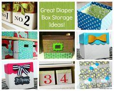 Diaper  Bin Storage Boxes