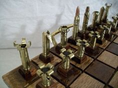 Bullet Chess Set Made from .223 Caliber Shells | Walyou