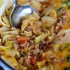 Easy stuffed cabbage casserole