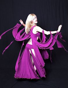 Gaia, Goddess Dance Costume Top in Stretch, Violet Modal
