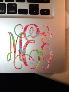 This listing is for a Lilly Pulitzer inspired monogram! This monogram is cut out of any Lilly background and looks great with all monograms! I can do