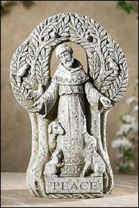 Saint Francis peace tree statue Home or garden Beattitudes gifts