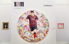 メッシと村上隆氏のコラボ作品がチャリティー競売で約5800万円に | サッカーキング