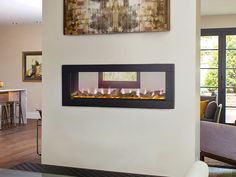 Napoleon 50-In CLEARion See-Thru Electric Fireplace w/ Black Trim - NEFBD50H & NEFBD50H-DTRM