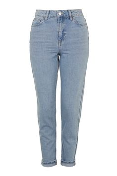 MOTO Light Bleach Mom Jeans - Topshop