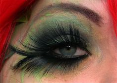 Poison Ivy eye makeup!
