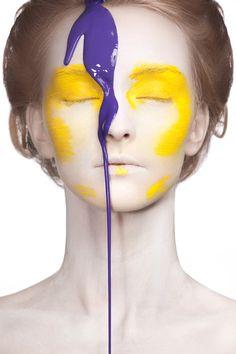 """Colour Stain""| Model: Nadezda Stepkina, Photographer: Dmitry Drozdov, Vogue Italia, November 2011"