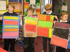 Today the children in my class finished their Mark Rothko inspired pictures.