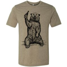   An original design by BrewerShirts, for beer geeks & craft beer enthusiasts   Got a great #Beerfest or #Brewday coming up with your crew?  This California beer bear t-shirt features a grizzly double fisting a couple bottles of his favorite brew.  Screen printed by hand //