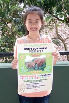 The Elephant Girl: Celia Ho—Celia, a young Chinese girl, launches a campaign to save African Elephants Never Forget, Save The Elephants, African Elephant, African Safari, Elephant Love, Elephant Party, Ivory Trade, Small Acts Of Kindness