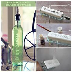 Lettering on glass bottles : DIY and Craft Tutorials