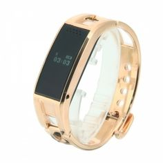 D8 Titanium Alloy Bluetooth Sync Smart Watch Phone Bracelet Golden