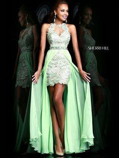 Striking Floral Appliquéd Prom Gown By Sherri Hill 9713