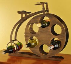 High Wheel Penny Farthing Bicycle Wine Bottle Rack  by MoonLadders, $145.00