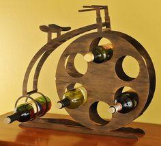 High Wheel Penny Farthing Bicycle Wine Bottle Rack  by MoonLadders, $145.00
