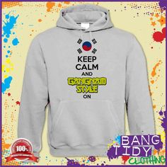 PSY Keep Calm and Gangnam Style On Fun Music Mens Womens Hoodie  Our Price: £19.97