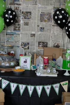 Birthday Trash Bash via Kara's Party Ideas - Garbage truck birthday party - boy birthday party with favors, printables and more