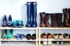 Teenage Closet Organization - A Bowl Full of Lemons -1 ~ I want the shoe racks TJMAXX  - ORGANIZE SHOES