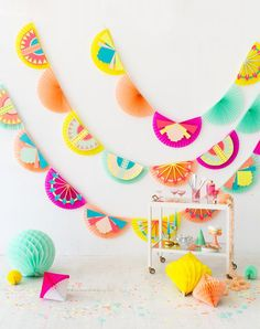 Art Deco Fan Garland DIY