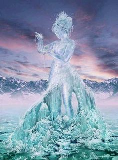 Cathrine Langwagen is a Swedish fantasy artist specializing in concept art and photo manipulation. Fantasy Kunst, Fantasy Art, 4 Elements, Ice Art, Snow Sculptures, Water Element, Water Art, Art Series, Gods And Goddesses