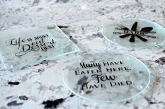 Spruce up a boring glass cutting board with this fun and easy tutorial. Perfect for wedding, hostess, or housewarming gifts.