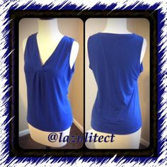 Beautiful sapphire blue top by New York & Company✨ Excellent condition beautiful top, blue is eye catching✨✨ fits more like a medium as it is a tighter fit New York & Company Tops