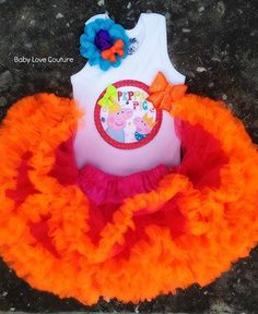 Peppa Pig tutu Pettiskirt ***facebook fan page: BABY LOVE COUTURE**