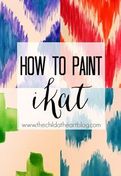 How to Paint 4 Ikat Patterns: Child at Heart shows you how to paint the diamond, dot, and chevron ikat patterns with no stencil needed.