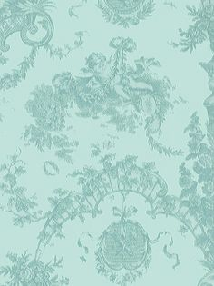 Retro Wall Paper - 1970s Collection - L Blue Cherub - #RTT-129  [RTT129] Retro