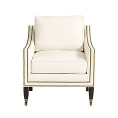 Griffin Club Chair with Aged Brass Nailheads   Ballard Designs