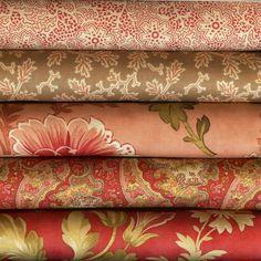 Autumn Lily By Blackbird Designs For Moda Fabrics 5 Fat Quarters 100% Cotton #ModaFabrics