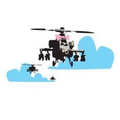 Banksy Happy Chopper Wall Sticker by Red Candy