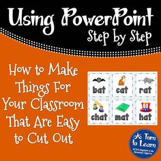 Love this trick for making center games for your classroom. make them really easy to cut out! Awesome time saver for teachers! Powerpoint Tips, Microsoft Powerpoint, Microsoft Office, Proposal Software, Data Visualization Tools, Computer Programming, Computer Tips, Marketing Budget, Teacher Worksheets