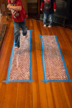 Make a Bubble Wrap Runway   hands on : as we grow