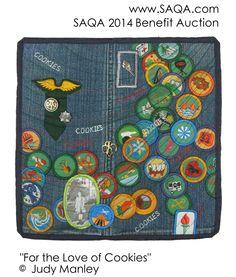 Art quilt by Judy Manley #SAQA #artquilts