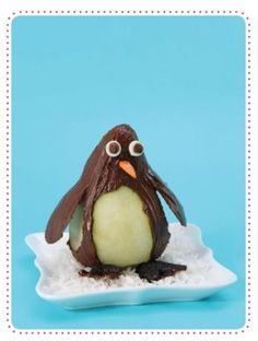 To get your little one to eat fruit! Chocolate covered pear... Cute