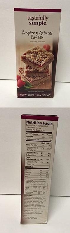 Tastefully Simple Raspberry Oatmeal Bar Mix