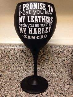 Sons of anarchy wine glass by KTynesDesigns on Etsy
